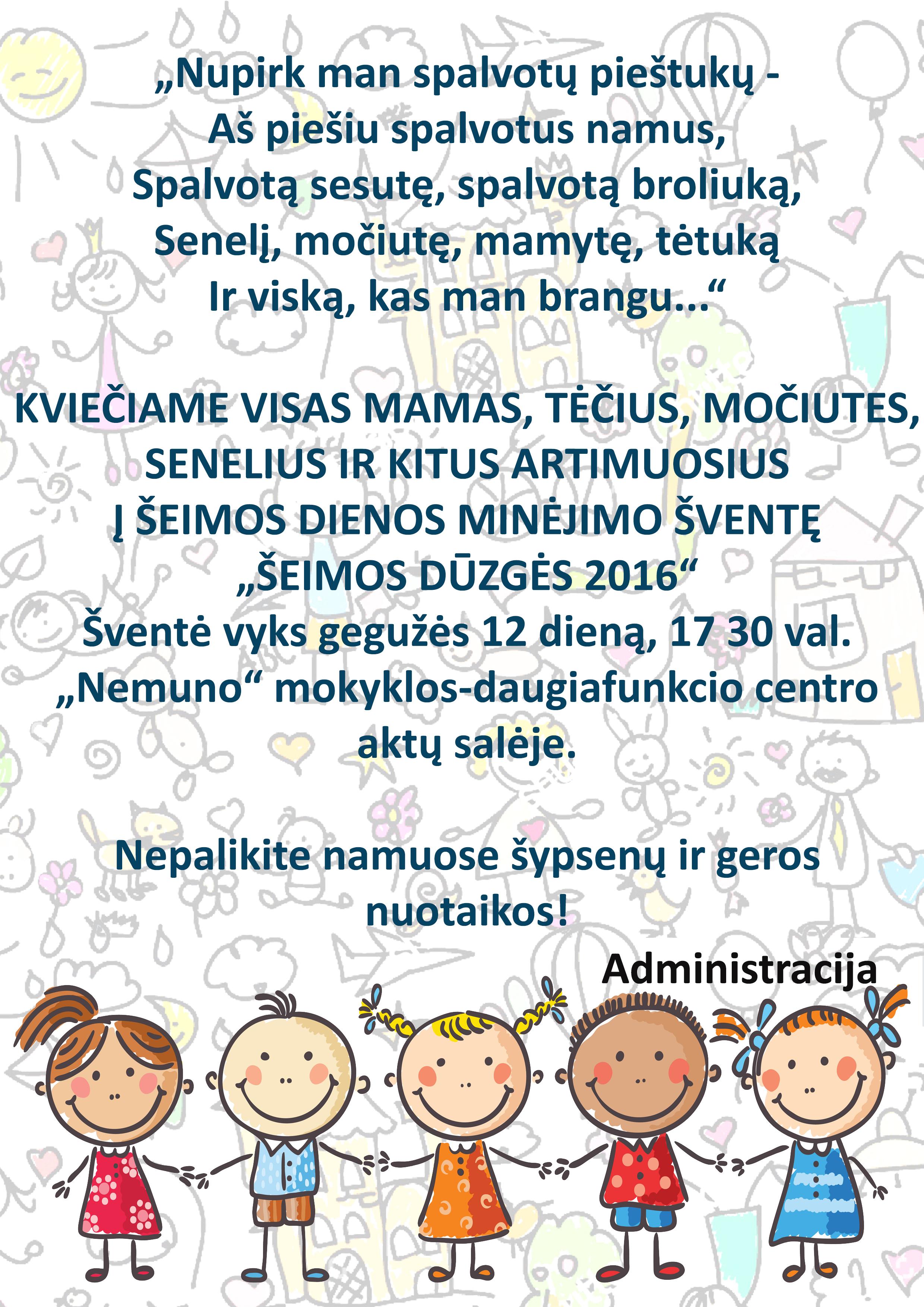Šeimos dienos minėjimo šventė